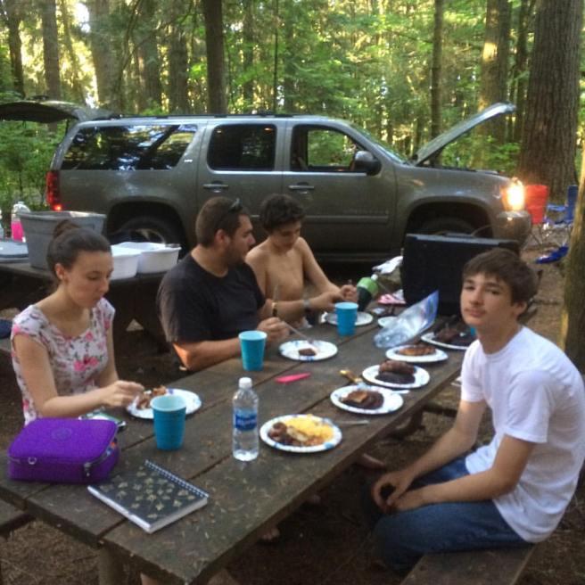 Camping Dinner Redwoods