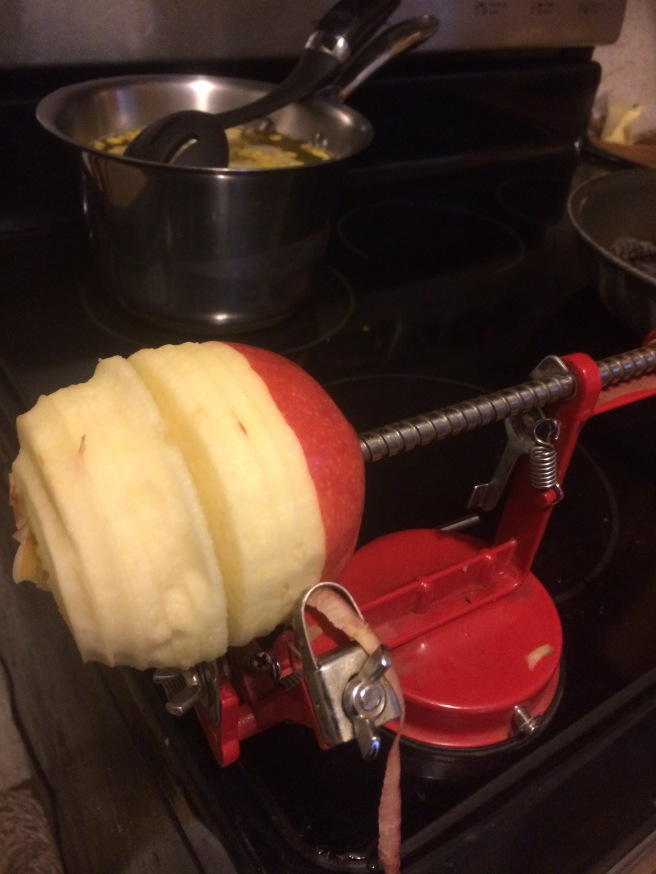 fried apples peel