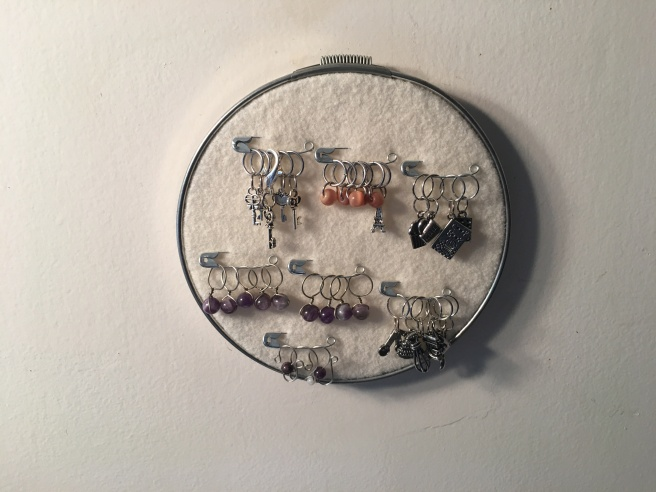 DIY Stitch Marker Display Finished